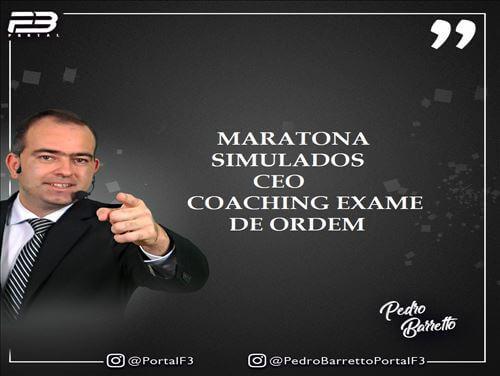 MARATONA SIMULADOS CEO COACHING EXAME DE ORDEM OAB 1ª FASE