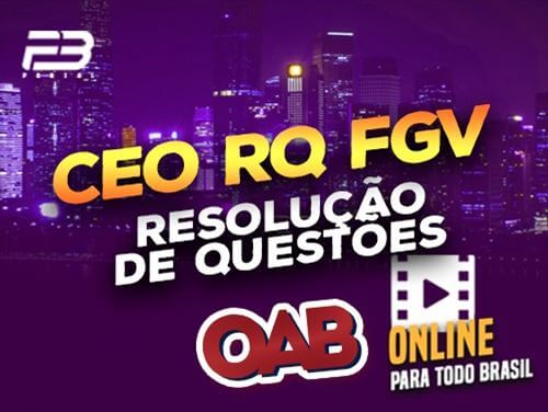 TREINAMENTO CEO RQ FGV - 2ª turma