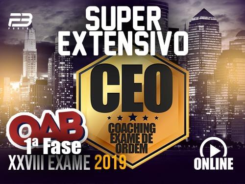 CEO  COACHING EXAME DE ORDEM - XXVIII EXAME - SUPER EXTENSIVA Online