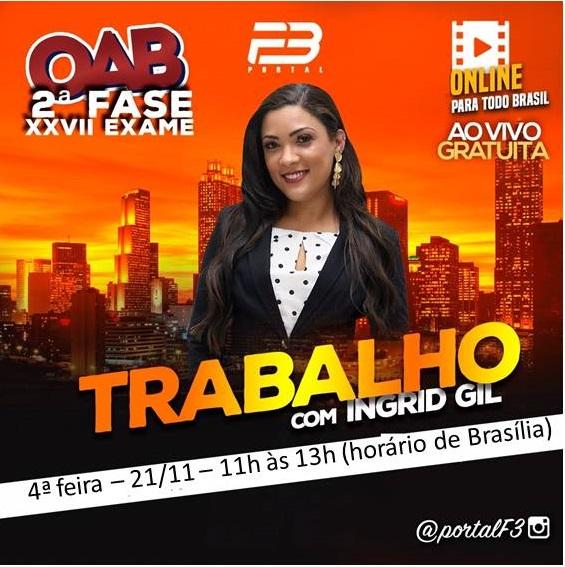 AULA INAUGURAL - OAB 2ª FASE DIREITO TRABALHO XXVII EXAME ONLINE