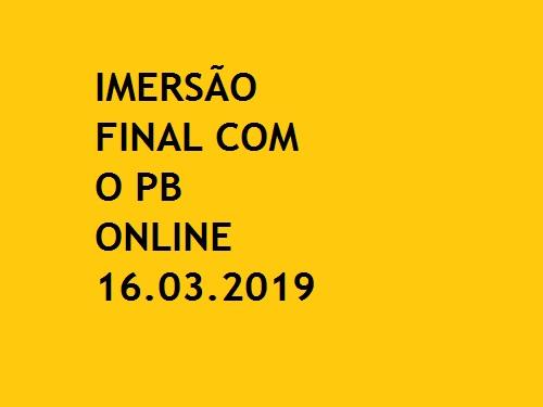 IMERSÃO FINAL COM O PB ONLINE OAB 1ª FASE XXVIII EXAME DE ORDEM