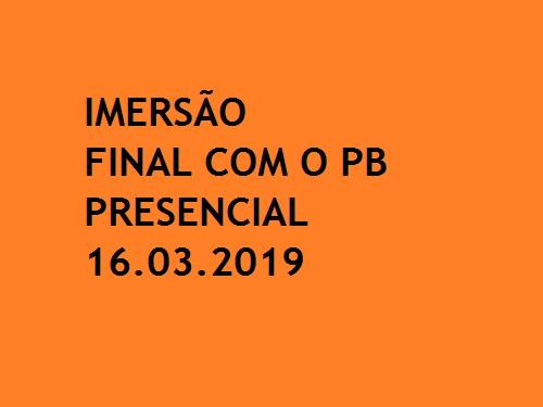 IMERSÃO FINAL COM O PB OAB 1ª FASE XXVIII EXAME DE ORDEM  PRESENCIAL