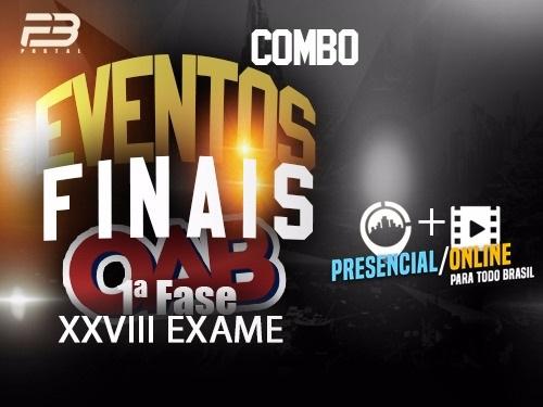 COMBO 1 RETA FINAL OAB 1ª FASE XXVIII EXAME PRESENCIAL + ONLINE
