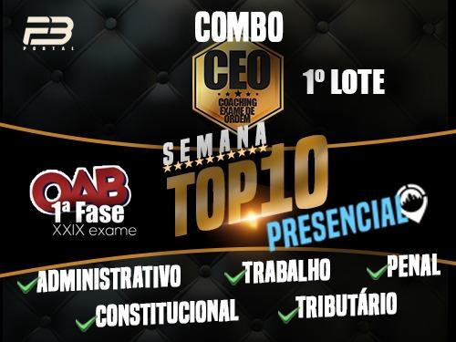 COMBO TOP 10 - EVENTOS FINAIS XXIX EXAME - PRESENCIAL