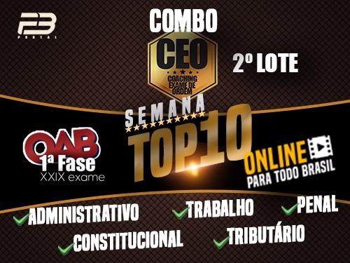 COMBO TOP 10 - EVENTOS FINAIS XXIX EXAME - ONLINE