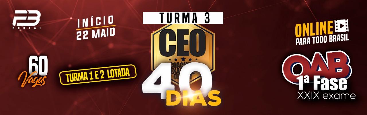 CEO COACHING EXAME DE ORDEM 40 DIAS XXIX EXAME TURMA 3 ONLINE