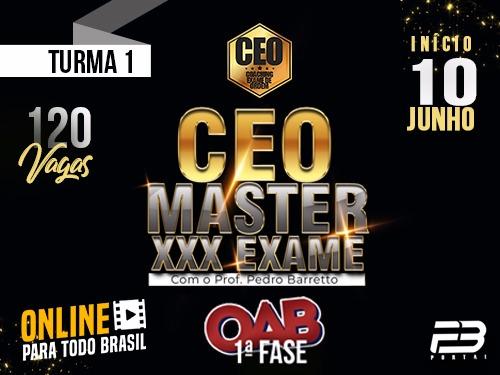 CEO COACHING EXAME DE ORDEM XXX -  MASTER TURMA 1 ONLINE