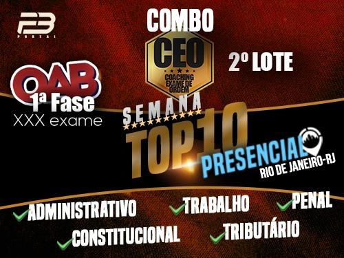 COMBO TOP 10 - EVENTOS FINAIS XXX EXAME - PRESENCIAL