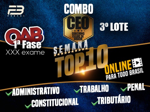 COMBO TOP 10 - EVENTOS FINAIS XXX EXAME - ONLINE