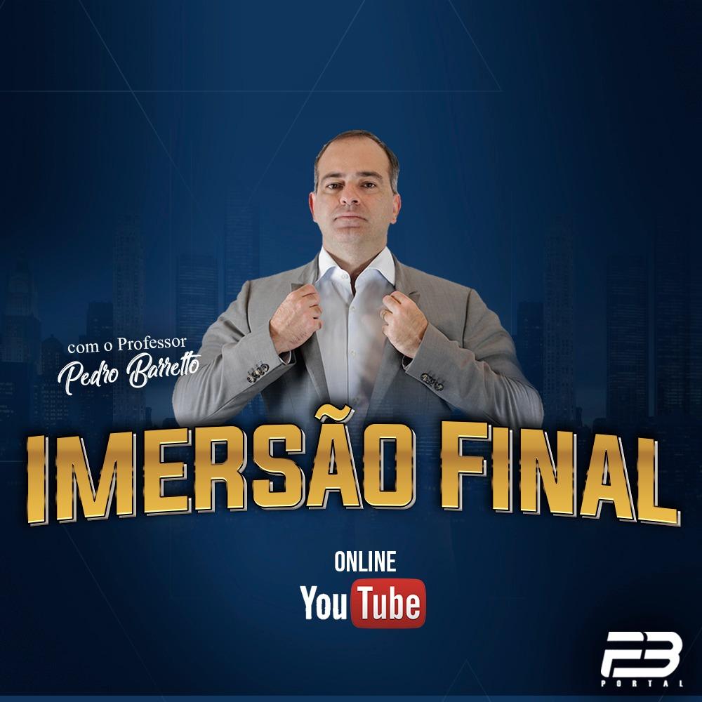 ONLINE - IMERSÃO FINAL COM O PB OAB 1ª FASE XXX EXAME DE ORDEM