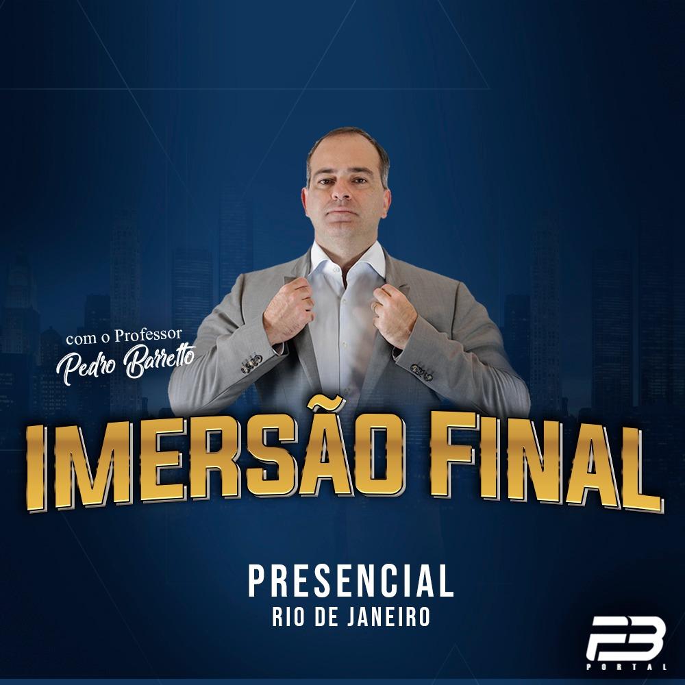 PRESENCIAL - IMERSÃO FINAL COM O PB OAB 1ª FASE XXX EXAME DE ORDEM