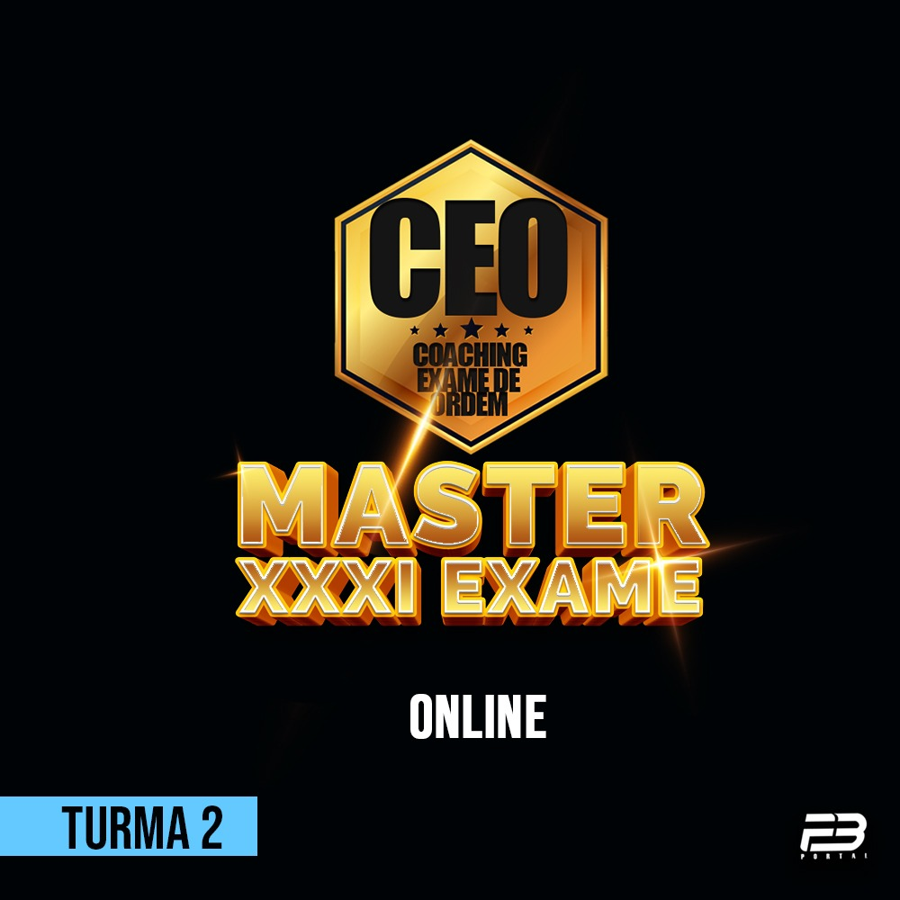CEO COACHING EXAME DE ORDEM XXXI - MASTER TURMA 2