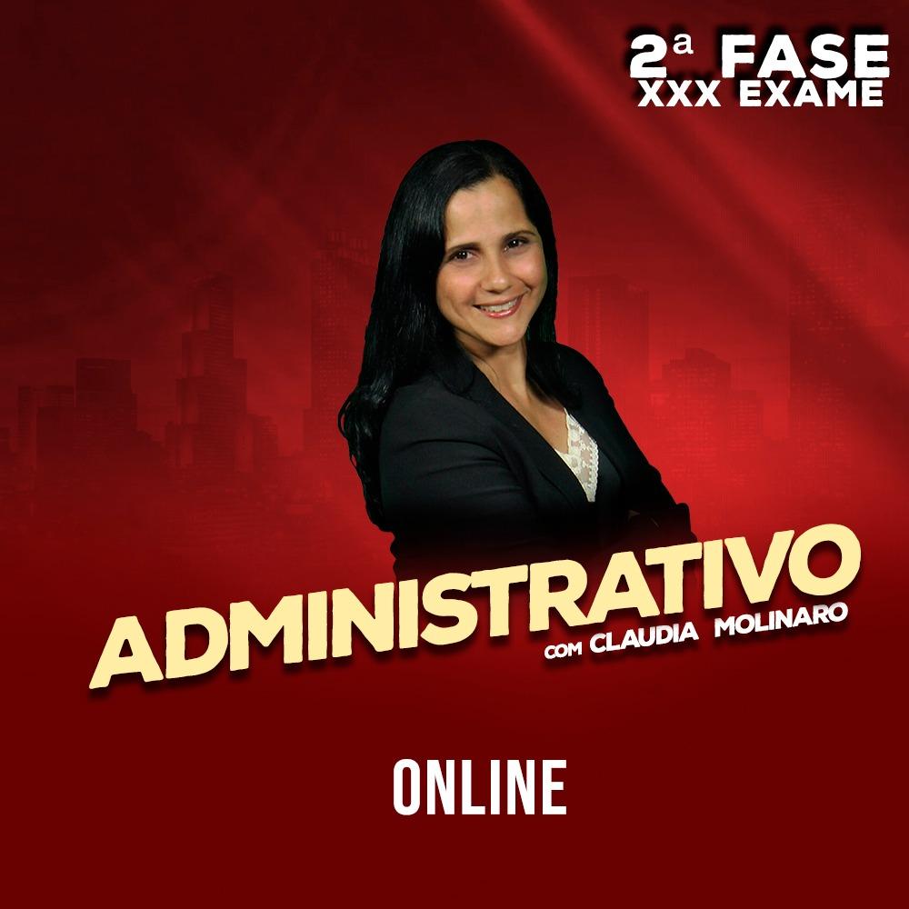 OAB 2ª FASE ADMINISTRATIVO XXX EXAME ONLINE