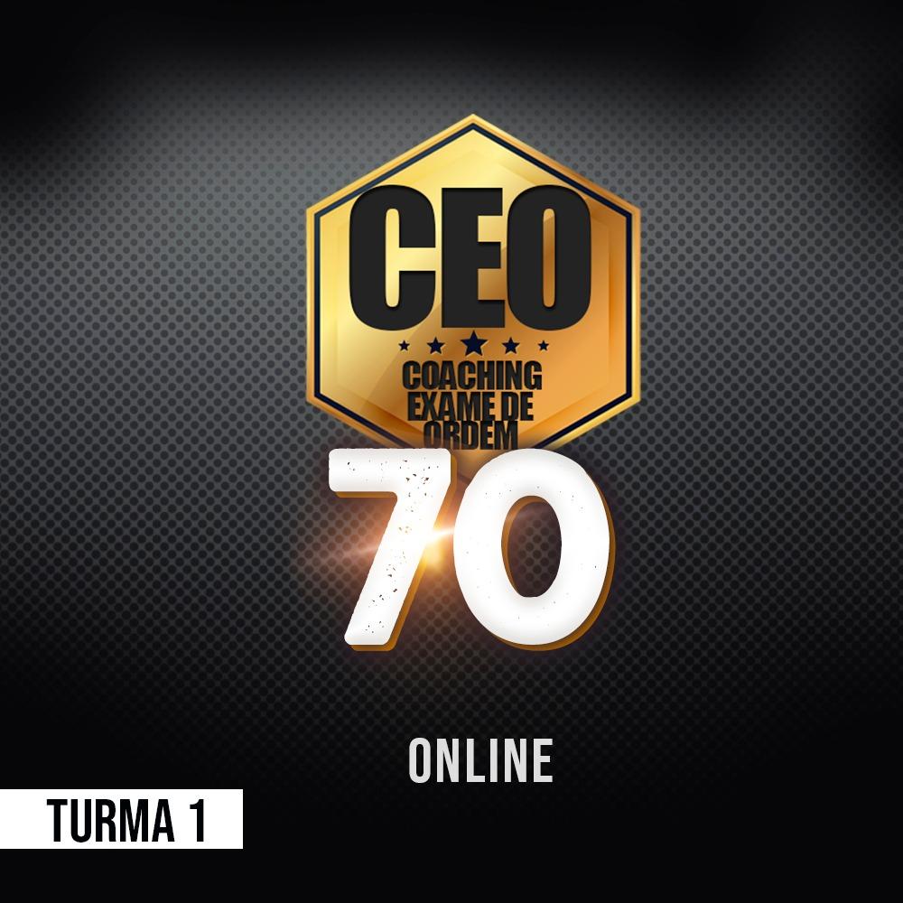 CEO COACHING EXAME DE ORDEM - 70 DIAS - XXXI EXAME ONLINE TURMA 1