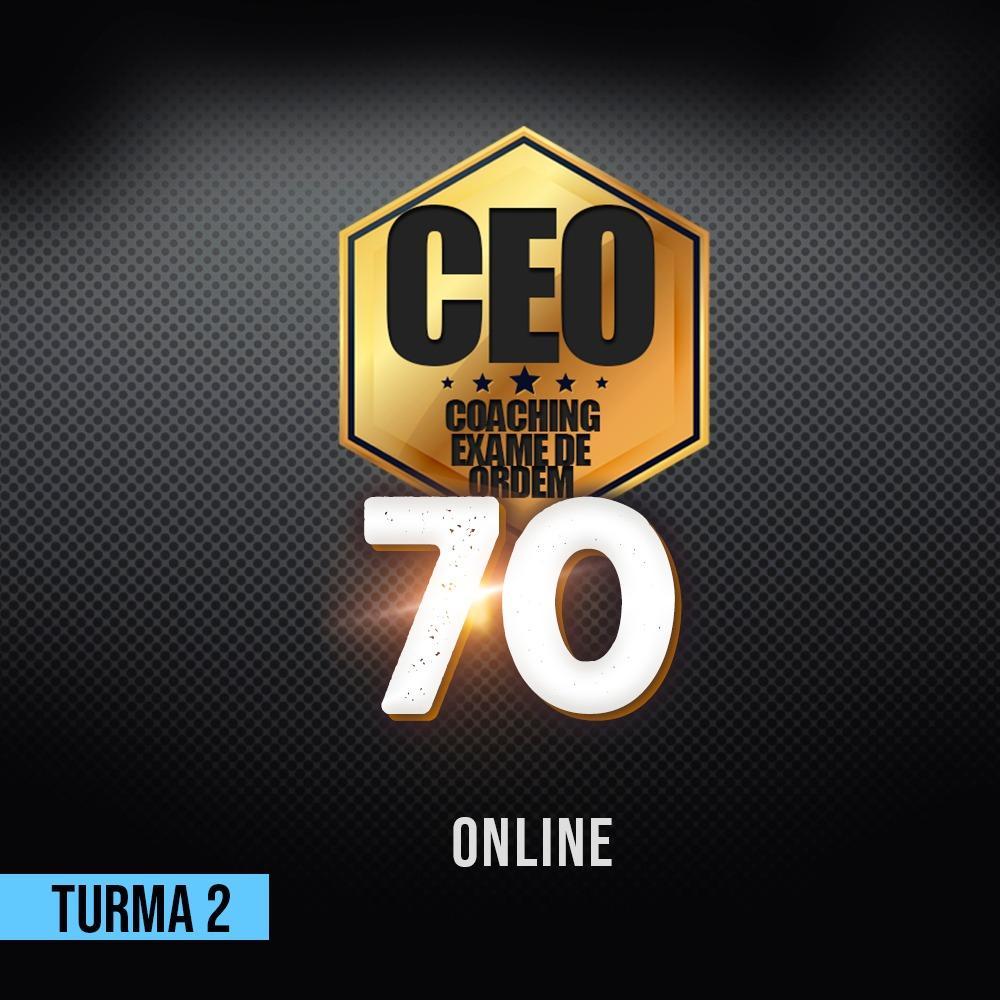 CEO COACHING EXAME DE ORDEM - 70 DIAS - XXXI EXAME ONLINE TURMA 2