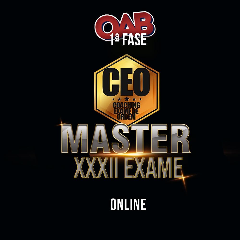 CEO COACHING EXAME DE ORDEM - MASTER - XXXII EXAME ONLINE