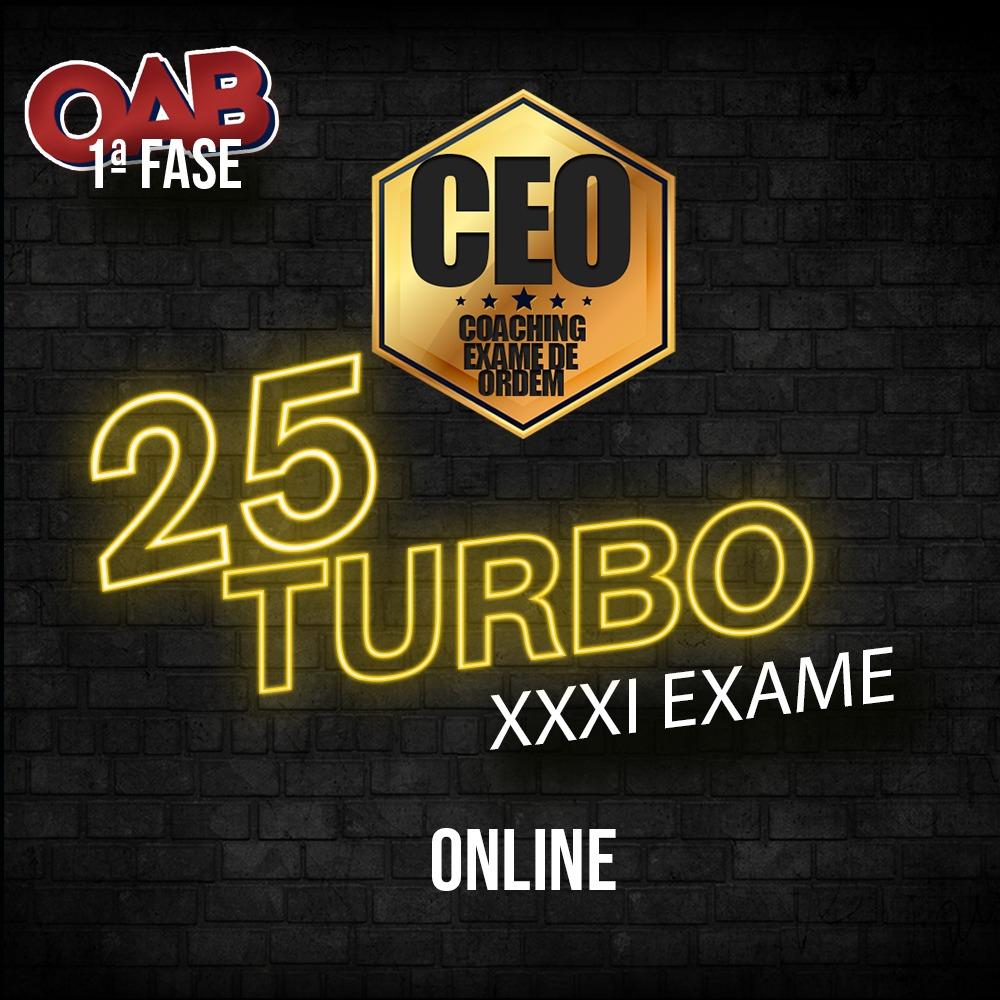 CEO COACHING EXAME DE ORDEM - CEO25 TURBO - XXXI EXAME ONLINE
