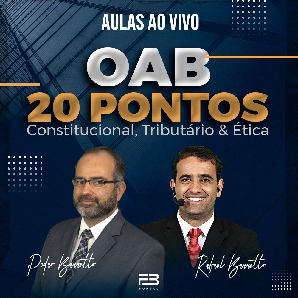 OAB 20 PONTOS - PB & RB