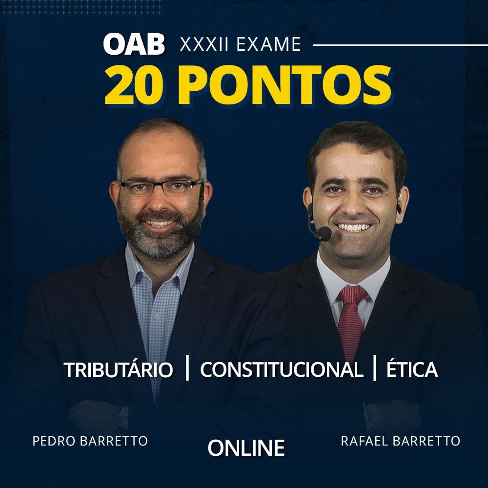 OAB 20 PONTOS - XXXII EXAME