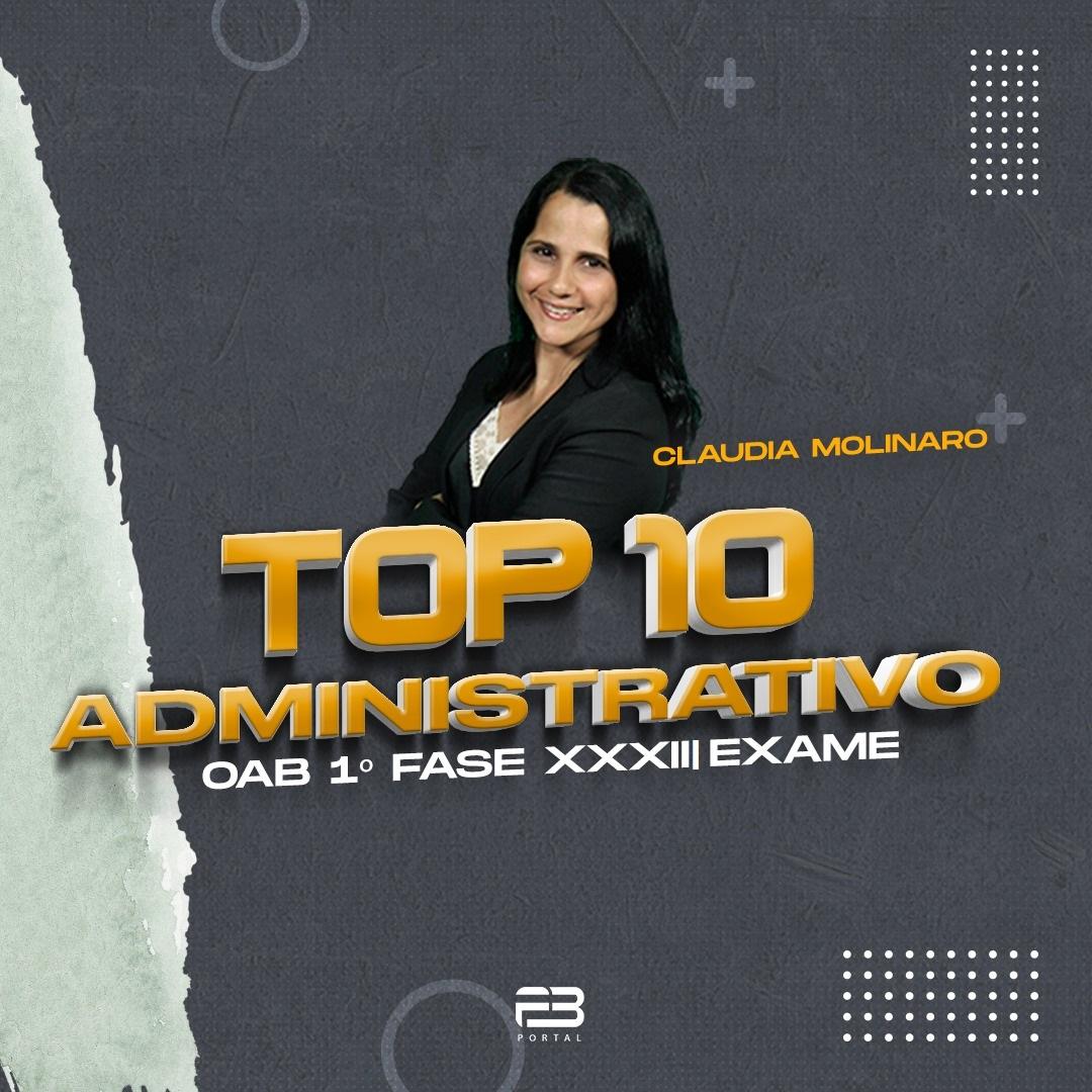 TOP 10 ADMINISTRATIVO - OAB 1º FASE XXXIII EXAME