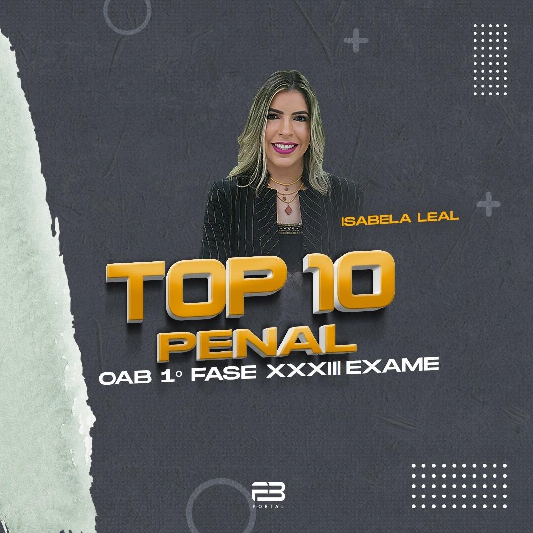 TOP 10 PENAL - OAB 1º FASE XXXIII EXAME